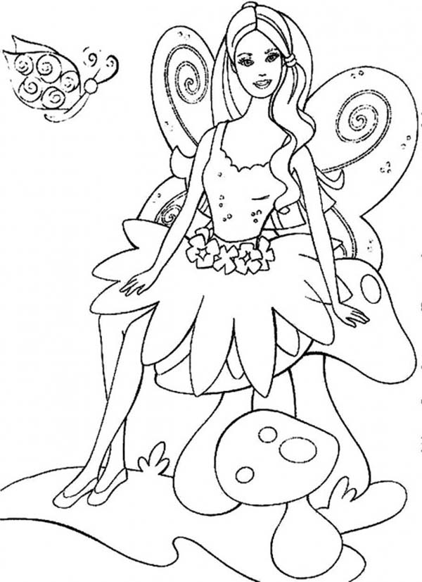 Barbie Elina in Barbie Fairytopia World Coloring Pages: Barbie Elina ...