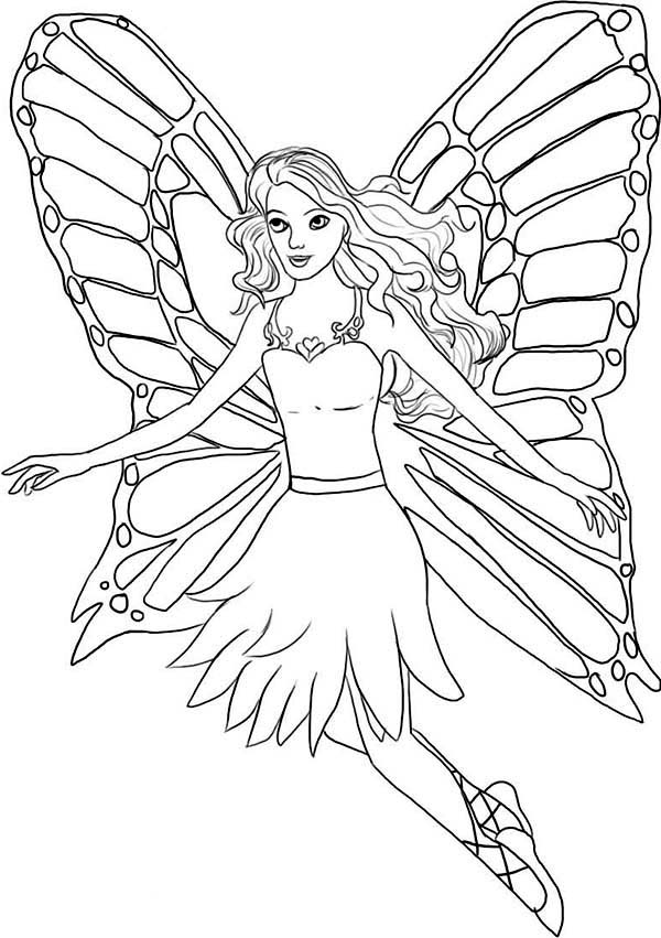 Worksheet. How to Draw a Fairy in Barbie Fairytopia World Coloring Pages How