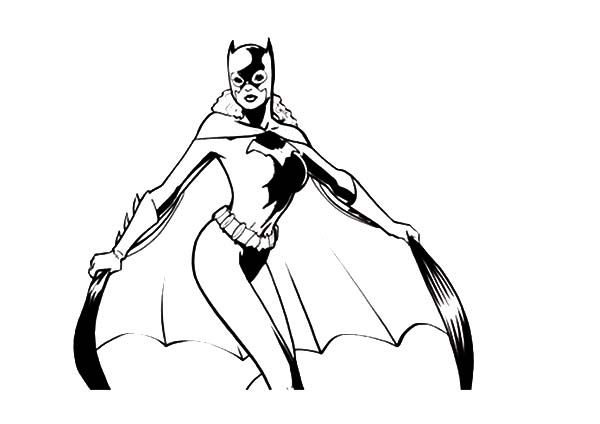 Picture of Batgirl Coloring Pages: Picture of Batgirl Coloring ...