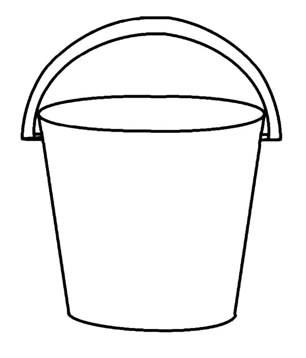 Beach Buckets Coloring Pages Bucket Coloring Pages