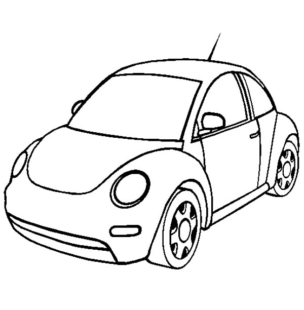New Volkswagen Beetle Car Coloring Pages