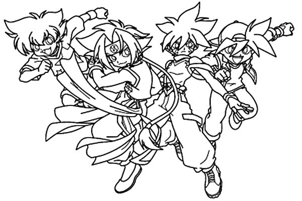 download - Beyblade Coloring Pages