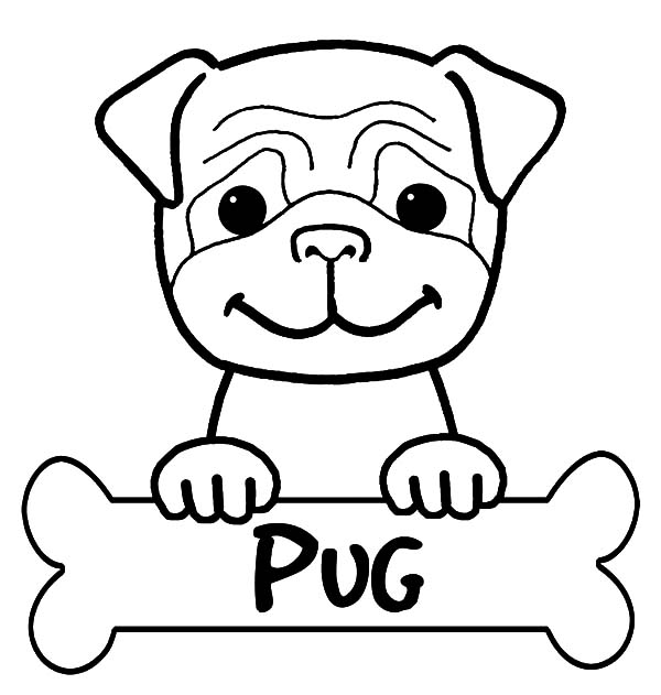 Cute Little Boxer Dog Pug Coloring Pages