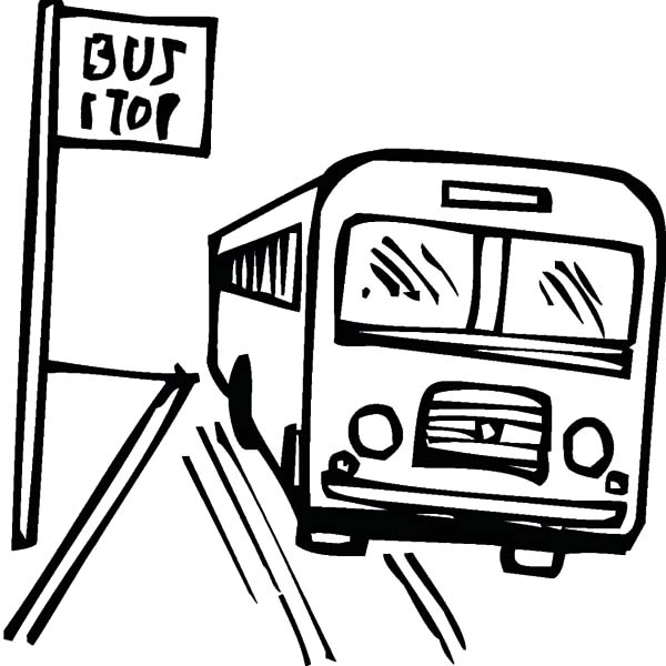 How to Draw Bus Stop Coloring Pages: How to Draw Bus Stop Coloring ...