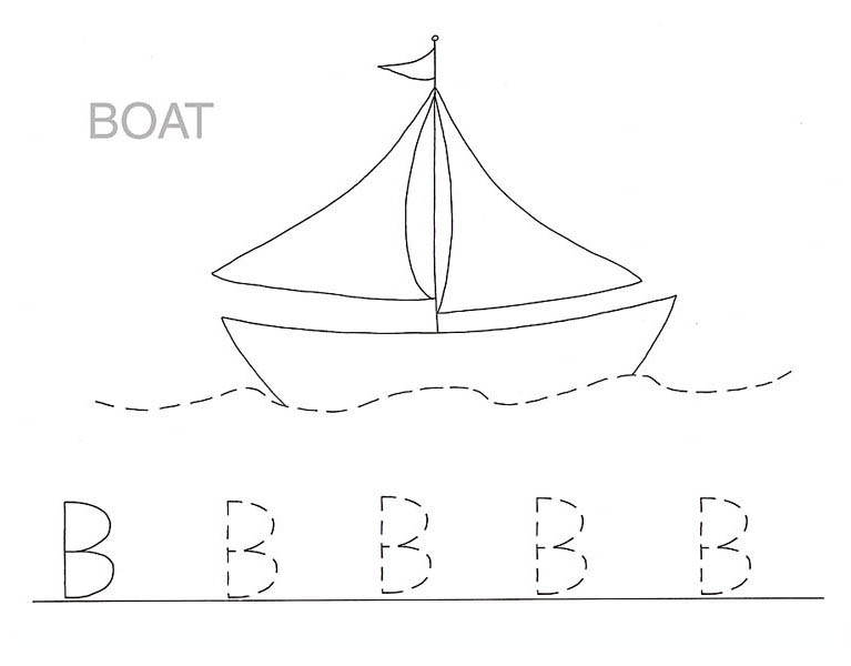 Free Worksheets Coloring Letter B Page