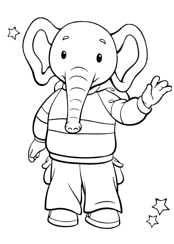 Rupert Bear Friend Edward Trunk the Elephant Coloring Pages ...