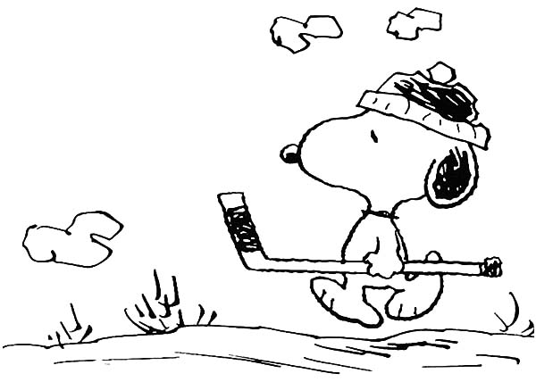 Snoopy Would Like to Play Hockey Coloring Pages: Snoopy Would Like ...