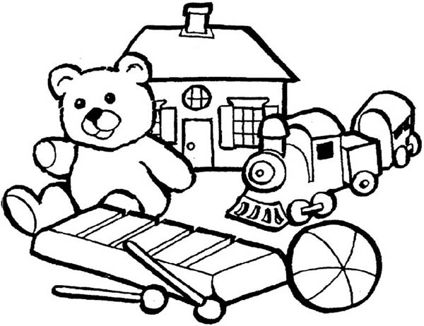 Group Of Little Kids Toys Coloring Pages Group Of Little Kids Toys