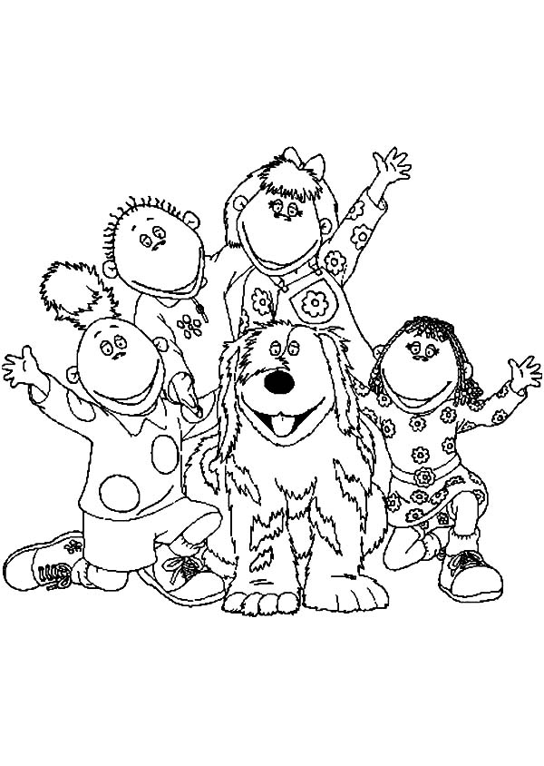 Cbeebies Colouring Pictures BBC Tweenies Coloring Pages