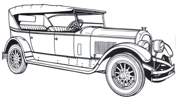 Antique Car, : 1924 Marmon Antique Car Coloring Pages