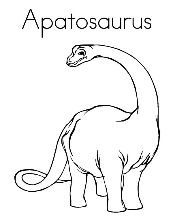 Apatosaurus, : A is for Apatosaurus Coloring Pages