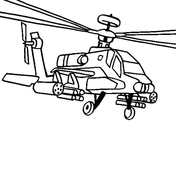 Apache Helicopter, : AH 64 Apache Helicopter Coloring Pages