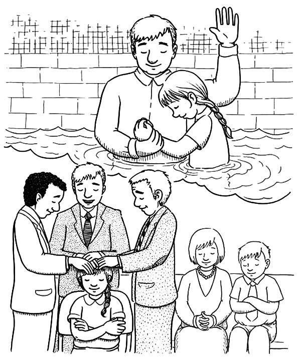 Baptism, : Admission and Adoption Baptism Coloring Pages