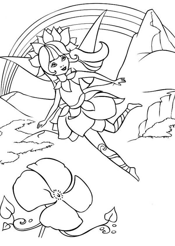 Adveture of Barbie Fairytopia World Coloring Pages | Best Place to Color