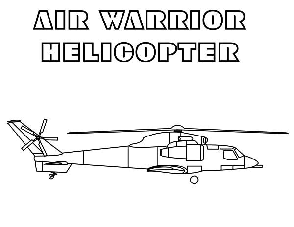 Apache Helicopter, : Air Warrior Apache Helicopter Coloring Pages
