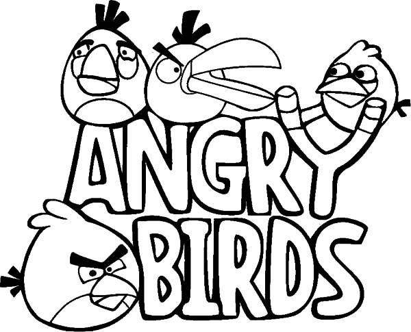 Angry Bird, : All Angry Birds Characters Coloring Pages