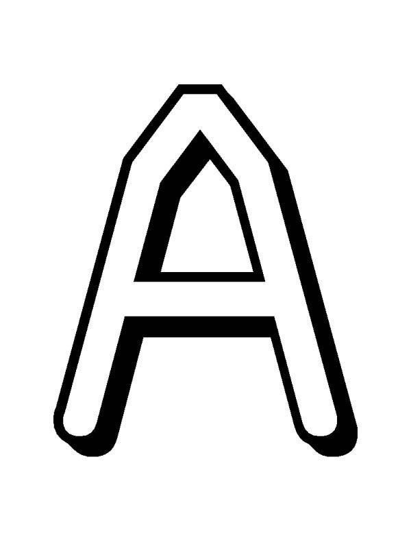 Letter A, : Alphabet Letter A on Learning Letter A Coloring Page