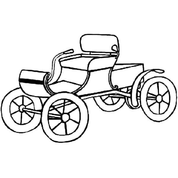 Antique Car, : An Old Antique Car Coloring Pages