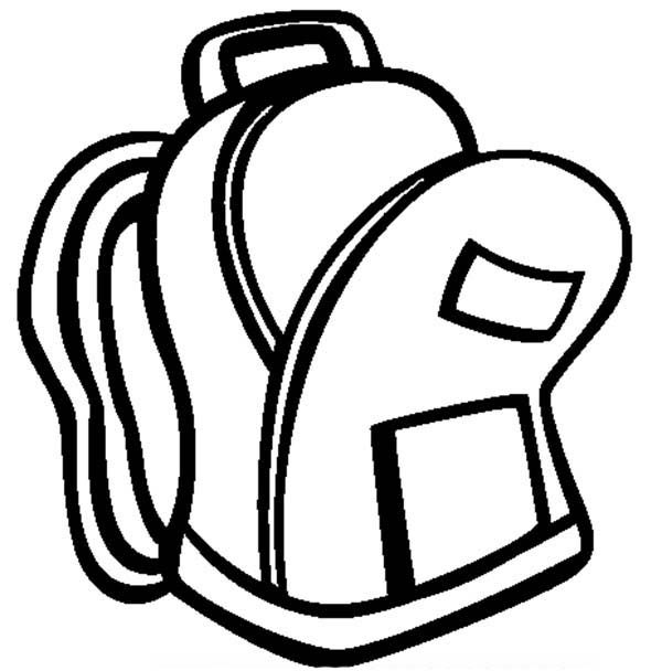 Backpack, : An Open Backpack Coloring Pages