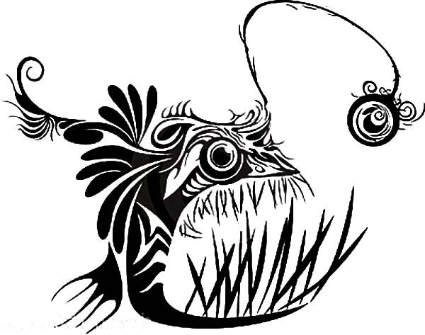 Angler fish devian art coloring pages best place to color for Angler fish coloring page