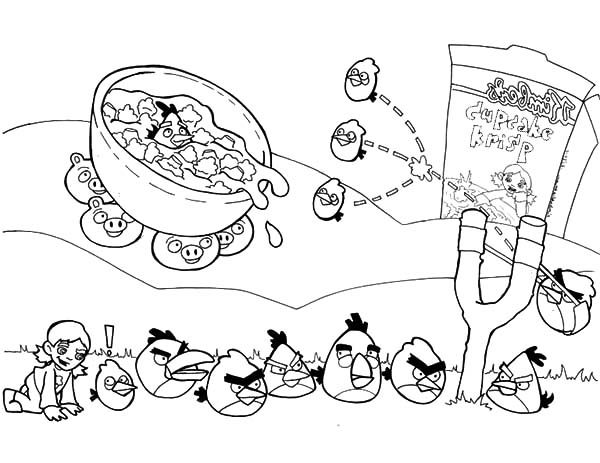 Angry Bird, : Angry Bird Fighting Practice Coloring Pages
