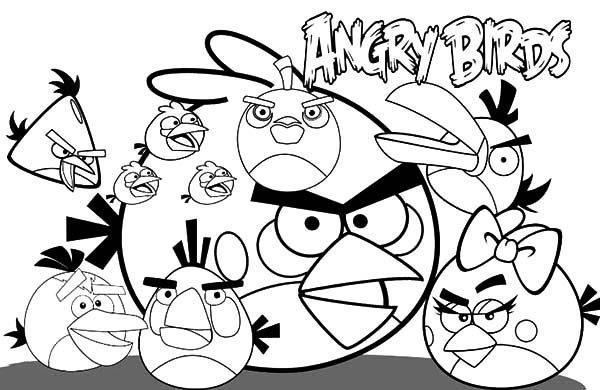 Angry Bird, : Angry Bird Poster Coloring Pages
