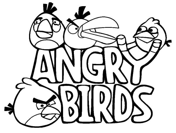 Angry Bird, : Angry Bird in Action Coloring Pages