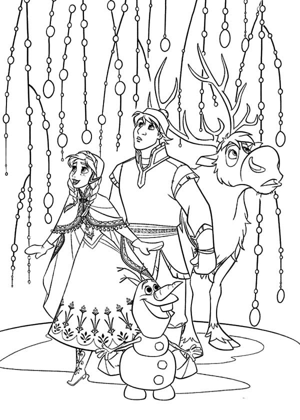 Anna, : Anna Kristoff Sven and Olaf Look Something Amazing Coloring Pages