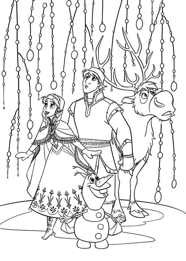 Anna kristoff sven and olaf look something amazing for Sven coloring pages