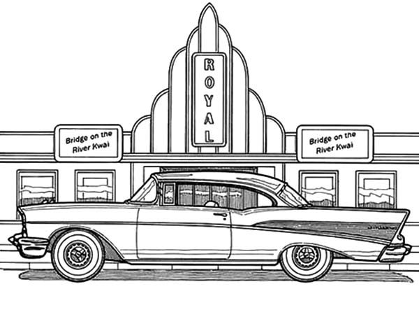 Antique Car, : Antique Car Cadillac Coloring Pages