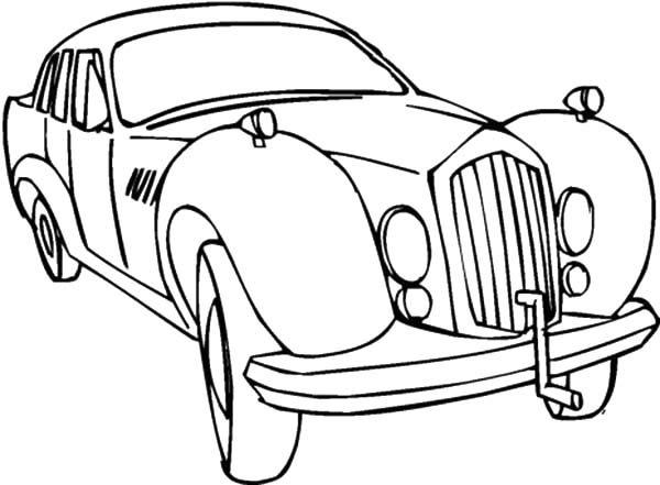 Antique Car, : Antique Car Coloring Pages for Kids