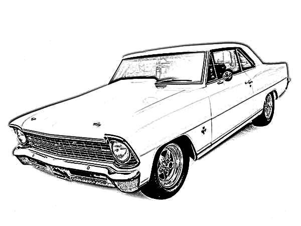 Antique Car, : Antique Car Image Coloring Pages