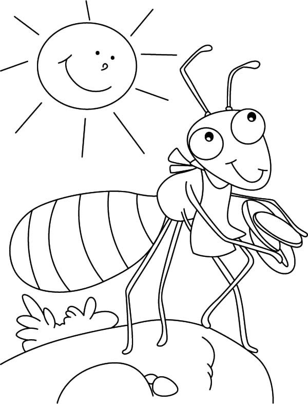 Ants, : Ants Taking Vacation Coloring Pages