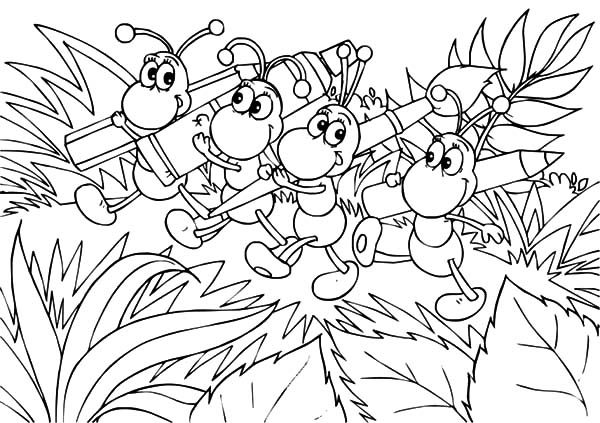 Ants, : Ants is Going to Paint Coloring Pages