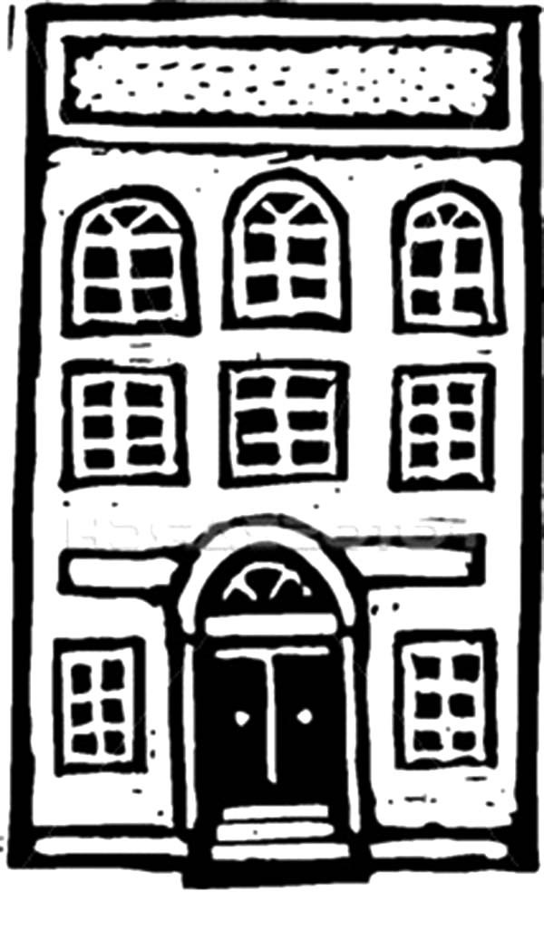 Apartment, : Apartment Building Coloring Pages