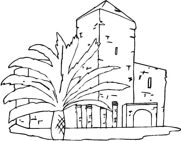 Apartment, : Apartment Near the Palms Coloring Pages