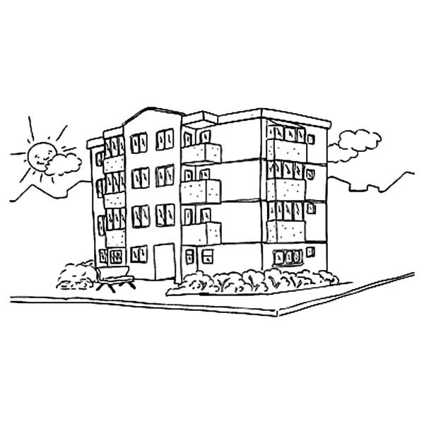 Apartment View Coloring Pages | Best Place to Color
