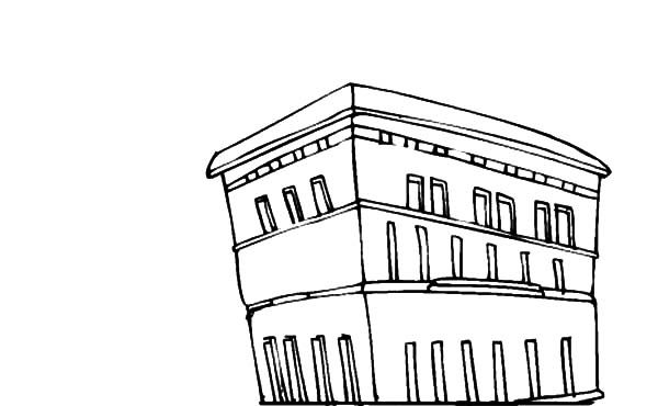 Apartment, : Apartment in the City Coloring Pages