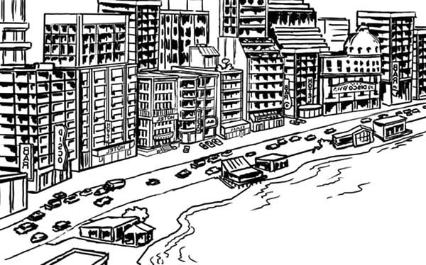 Apartment, : Apartments on the Coast Coloring Pages