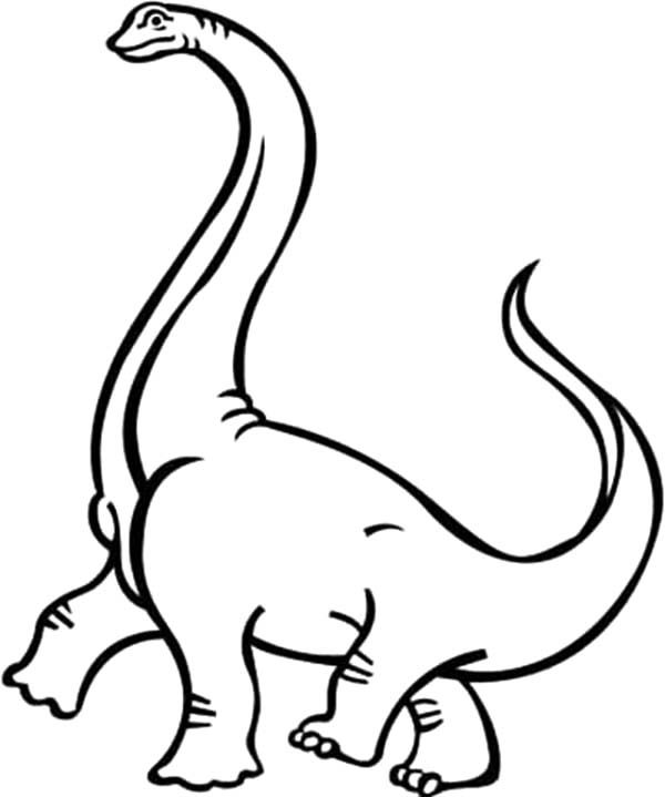 Apatosaurus, : Apatosaurus Lift One Foot Coloring Pages