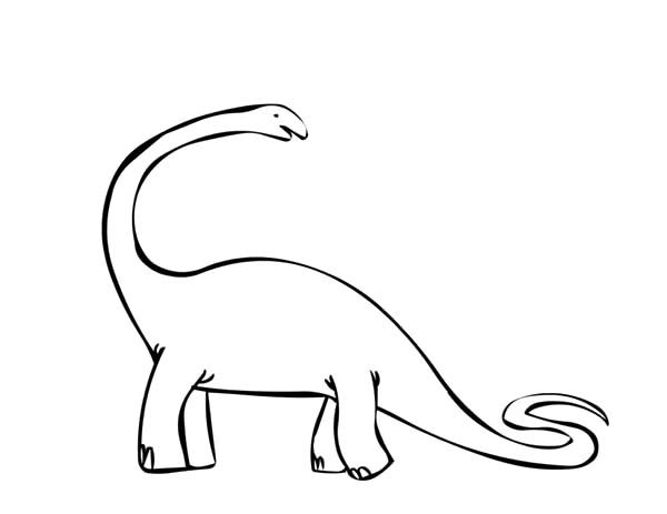 Apatosaurus, : Apatosaurus Outline Coloring Pages