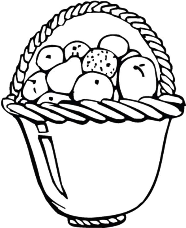 Apple Basket, : Apple Basket for Dining Table Coloring Pages