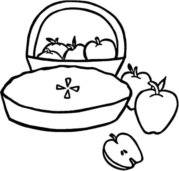 Apple Pie and Apple Basket Coloring