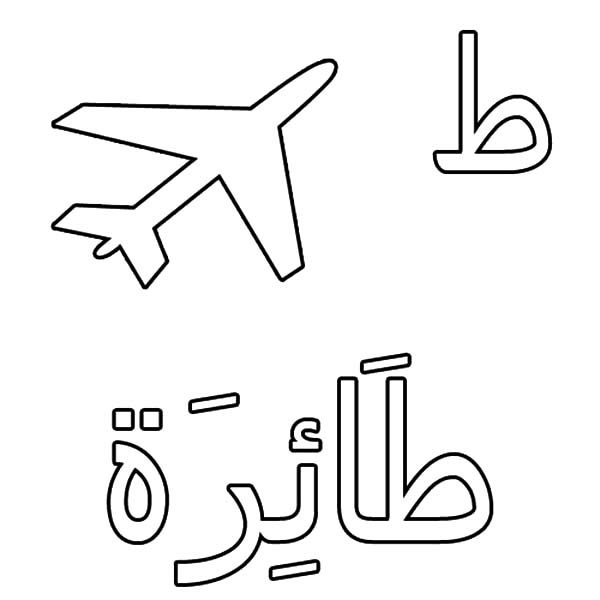 Arabic Alphabet For Saying In Sha Allah Coloring Pages