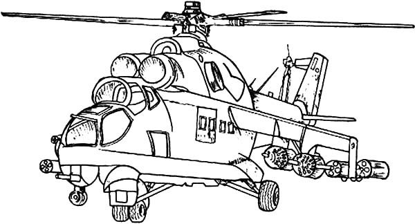 Army Apache Helicopter Coloring Pages | Best Place to Color
