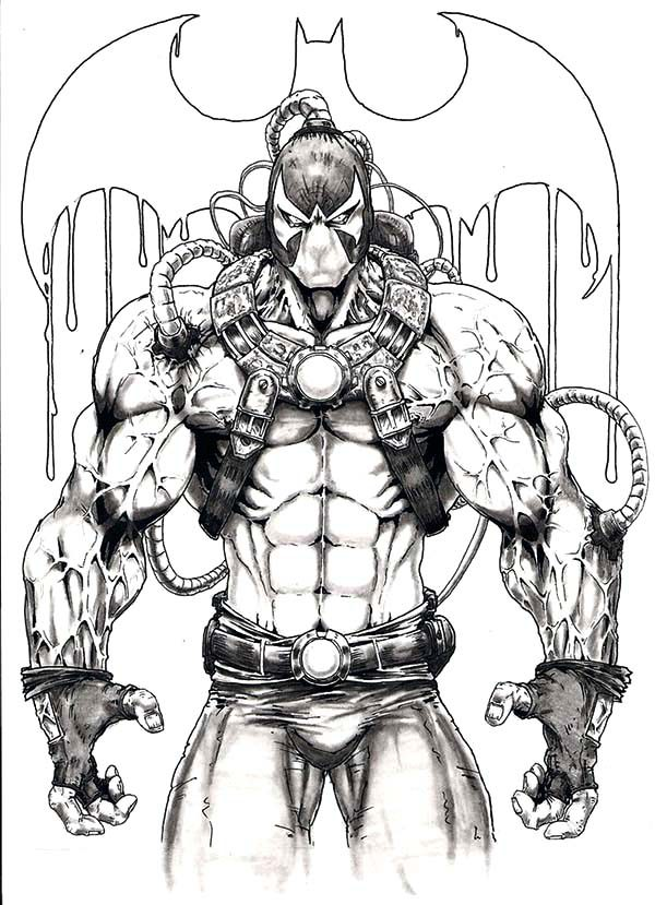 Bane Batman, : Awesome Picture of Bane Batman Coloring Pages