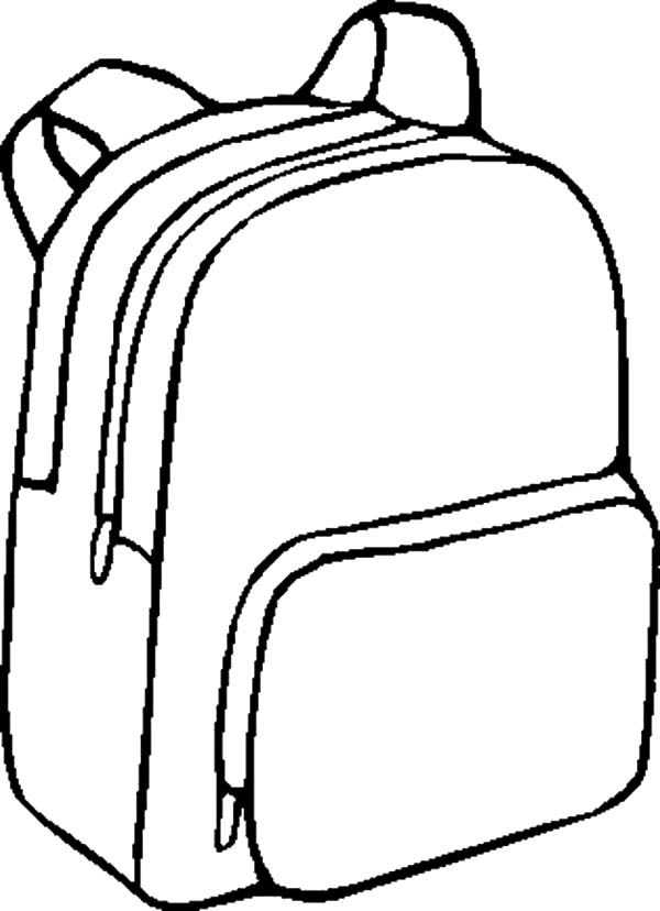 Backpack, : Back to School Backpack Coloring Pages