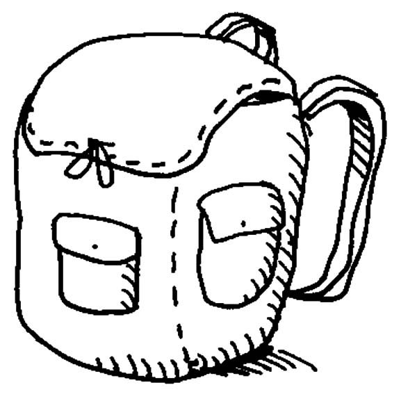 Backpack, : Backpack Coloring Pages for Kids