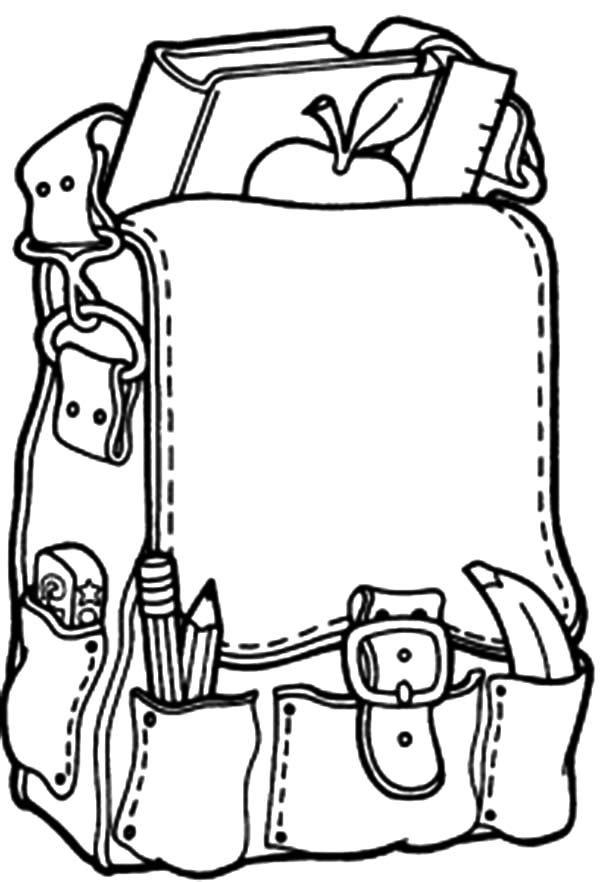 Backpack, : Backpack Full of Goods Coloring Pages