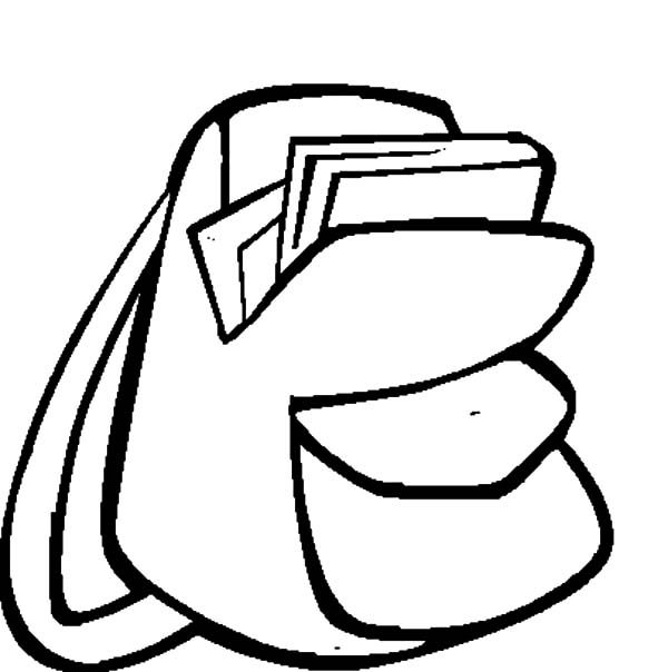 Backpack Coloring: Backpack Image Coloring Pages